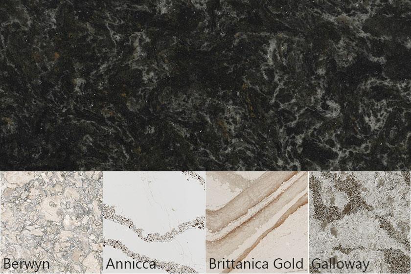 Cambria Quartz Colors Berwyn Annicca Brittanica Gold Galloway
