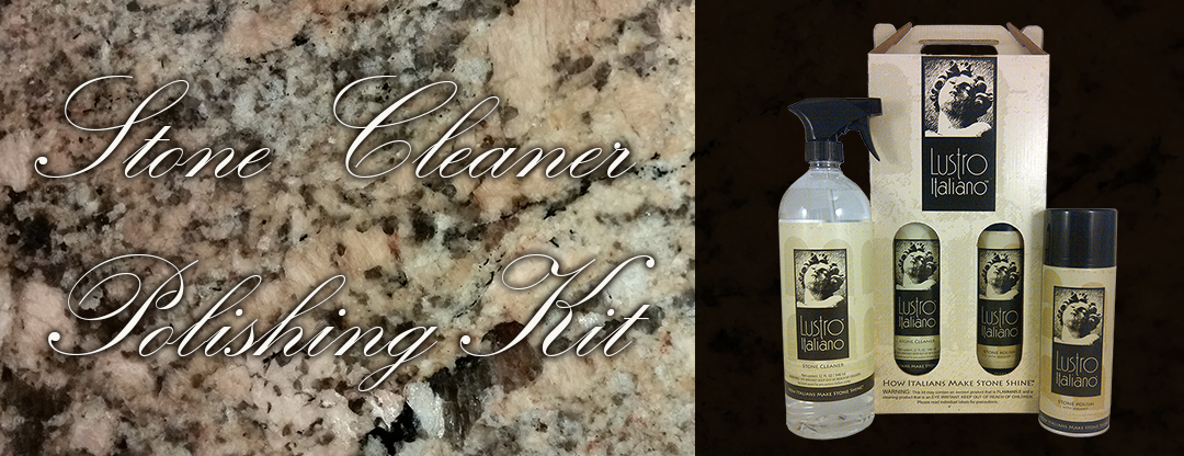 Lustro Italiano Granite Cleaner and Polish Kit